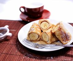 French Toast Banana Fritters - cafe delites