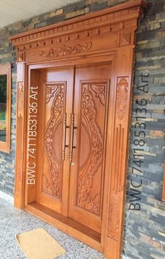Wooden Double Doors, Wooden Front Door Design, Main Entrance Door Design, Front Gate Design, Door Gate Design, House Front Design, Single Door Design, Double Door Design, Pooja Room Door Design