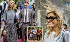 The Argentine-born royal, 46, giggled as a sudden breeze blew her hair into disarray while meeting farmers in Sumatra's Lampung province, Indonesia, on Monday.