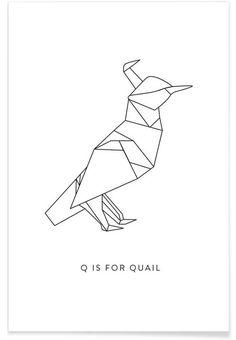 Q als Premium Poster door Julia Marquardt | JUNIQE