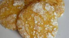 Light and easy cookies made with lemon cake mix.