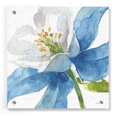 Epic Art 'Blue and Green Garden VI' by Lisa Audit, Acrylic Glass Wall Art - 36x36