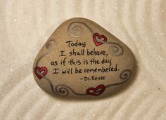 This is a custom stone for Joanna. If you would like something similar, please contact me. Size: Approx. 2.5 x 2 I began making Stone Poems years ago after i started collecting these wonderful, smooth, flat, light-colored stones from the Lake Michigan beaches, here on the Leelanau Peninsula. I love how each little stone is like a blank canvas, and how cool it feels in my hand. All of my Stone Poems have been coated with a sealant to protect the artwork. They are signed on the back wi...