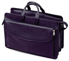 Leather Triple Compartment Laptop Briefcase - Blk: Winn International features a full line of quality… #Hotels #CheapHotels #CheapHotel