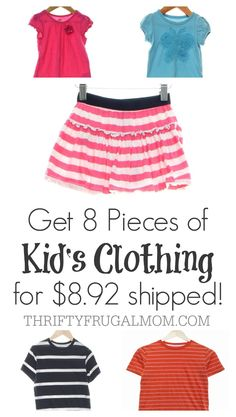 A great way to save on kid's clothing!  And from the comfort of your own home at that!