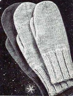 Free Knitting Patterns Mittens And Gloves Knitting * free knitting patterns mittens and gloves knitting * modèles de tricot gratuits mitaines et gants à tricoter The Mitten, Knitted Mittens Pattern, Knitted Gloves, Fingerless Gloves, Vintage Knitting, Free Knitting, Vintage Crochet, Knitting Scarves, Vogue Knitting