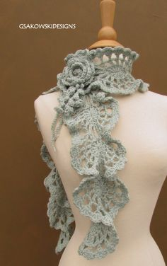 Victoria Wool ScarfSeaspray por gsakowskidesigns en Etsy