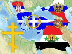 """The """"alternate"""" Middle East with Greater Syria, Greater Armenia, Greater Greece, Greater Serbia, all alleys of the Russian Federation Flags Of The World, Countries Of The World, Middle East Map, Old World Maps, Lion Art, Alternate History, World History, Coat Of Arms, Symbols"""