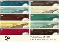 Mad for Mid-Century: VW Color Chart of Mid-Century Paint Colors