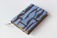 blue and brown   journal diary notebook travel journal by Patiak, $26.00