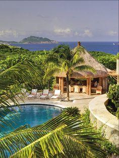 Tropical villa getaway on Mustique