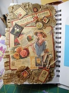 Haven't posted anything in a while...but I found this :) love the idea to use stamps!
