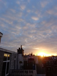 The sun sets on The Hague