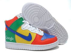 Low Price Google Red Gold Blue Green Nike Dunk High Top Men Up To 52% f5db48411