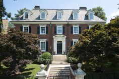 CURB APPEAL – another great example of beautiful design. Classic center entry Georgian.  wall street journal private properties.