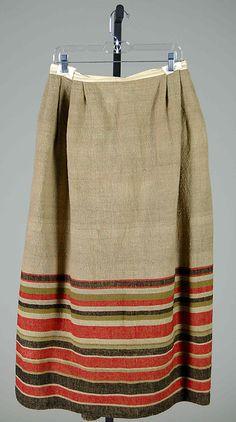 Petticoat.1840-60,linen & wool  MET