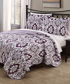 Take a look at this Purple Majida Quilt Set today!