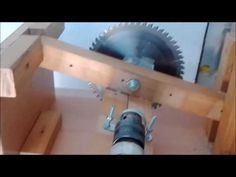HOME MADE TABLE SAW WITH (DRILL POWER) – DiyCrazy