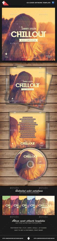 Summer Chillout - CD Cover Artwork Template - CD & DVD Artwork Print Templates