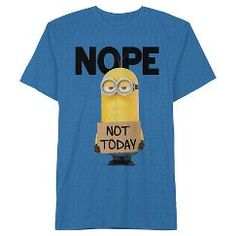 Men's Minions Nope Not Today T-Shirt Royal Blue