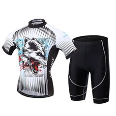 Xinzechen Bicycle Jersey Shorts Set Short Sleeve 3D Padded Blood Wolf Size  L -- Want 78eda922c