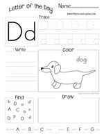 Letter of the Day Worksheet freebies