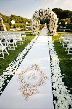 Aisle and floral arch