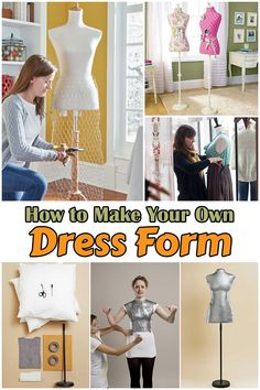 67a15242bdf Have you ever wanted to make your own dress form  Your own dress form can  really help you make own dress patterns because of how you can keep it taut  while ...