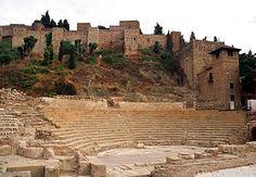 Castillo y anfiteatro Malaga Spain Castle and amphitheatre