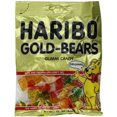 Haribo Gummi Candy, Original Gold-Bears, 5-Ounce Bags (Pack of 12) ($15) ❤ liked on Polyvore featuring food, candy, filler and food and drink
