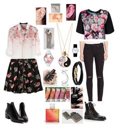 """""""I'm On A Highway To Hell"""" by forgetful-insomniacs ❤ liked on Polyvore featuring Abercrombie & Fitch, Accessorize, Betsey Johnson, Boohoo, Universal Lighting and Decor, 7 For All Mankind, Marc by Marc Jacobs, Mulberry, Christian Dior and Maison Margiela"""