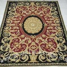 6 X9 Handmade Wool Toile Portuguese Needlepoint Area Rug W Pink Roses Allover Rugs Pinterest And