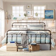 The Leona collection features a frame with spindles in the headboard and footboard, featuring elegance crafted casting at each joint. This metal bed create unique modern style that is sophisticated, yet simple and can be accented to compliment any decor.