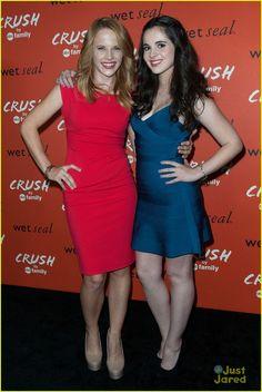 Katie Leclerc & Vanessa Marano at the Crush By ABC Family Launch Celebration