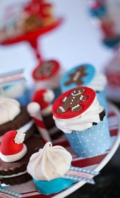 "Love the color scheme for this ""North Pole Christmas Holiday Party Cookie Exchange"", from Hostess with the Mostess®"