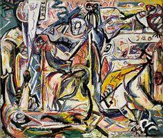 """Circuncisión (""""Circumcision""""). Jackson Pollock. 1946. Localización: Peggy Guggenheim Collection. https://painthealth.wordpress.com/2016/10/13/circuncision/"""