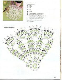 Crochet Doily Diagram, Crochet Edging Patterns, Crochet Flower Tutorial, Crochet Mandala, Crochet Chart, Thread Crochet, Filet Crochet, Crochet Stitches, Quick Crochet