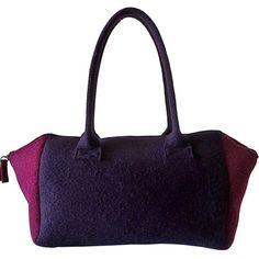 Felt handbag plum & magenta Felt Purse large door MargritliDesign