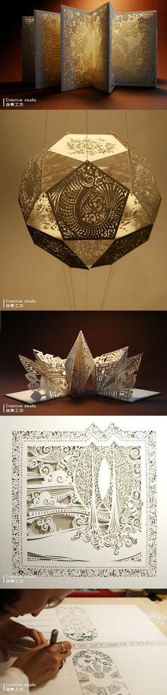Paper sculpture by creative studio