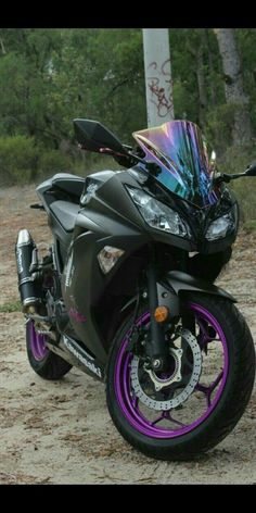 Purple & Black Kawasaki Ninja 300 with Double Bubble Iridium .- Lila & Schwarz Kawasaki Ninja 300 mit Double Bubble Iridium Windschutzscheibe – … Purple & Black Kawasaki Ninja 300 with Double Bubble Iridium Windshield – … – Kawasaki – - Kawasaki Ninja 300, Purple Motorcycle, Ninja Motorcycle, Women Motorcycle, Motorcycle Quotes, Super Bikes, Filles Monster Energy, Ducati Multistrada, Bike Photo