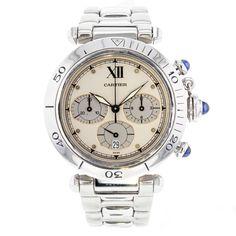 Cartier Pasha 38mm Stainless Steel Quartz Wrist Watch for Men  #Cartier #LuxuryDressStyles