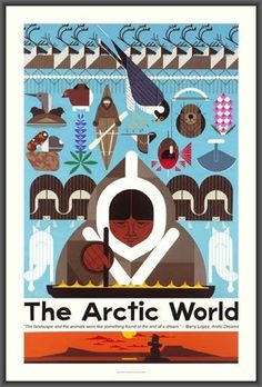 Charley Harper Poster - The Arctic World