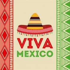 Mexico design over colorful background, vector illustration Mexican Party, Mexican Style, Mexico Country, Mexican Independence Day, Mexican Crafts, Stock Image, Financial Logo, Illustration, Free Vector Art