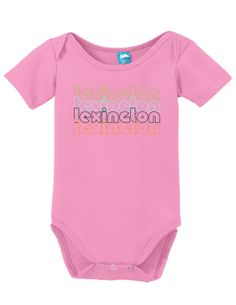 Lexington Kentucky Retro Onesie Funny Bodysuit Baby Romper