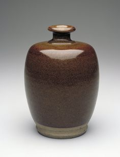 "Bottle, Song dynasty, 12th-13th century. Stoneware with ""tea-dust"" glaze. Minneapolis Institute of Art - The Collection"