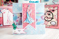 What a gorgeous handmade card design from the papercraft Kimono Collection from @crafterscompuk! Click 'Visit Site' above to shop now.