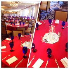 Table Set-Up for Wedding Catering at Westfields Marriott