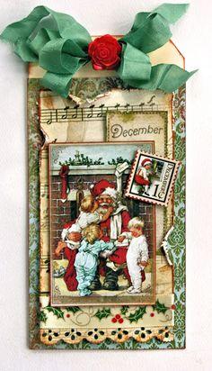 Telenor E-post :: Din inspirasjon for uken Christmas Mini Albums, Christmas Journal, Christmas Gift Tags, Xmas Cards, Handmade Christmas, Vintage Christmas, Christmas Scrapbook, Christmas Paper Crafts, Christmas Projects