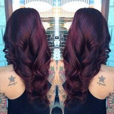 Black Cherry Hair Color with Culrs