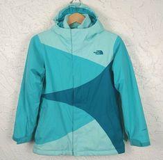 The North Face Girls L 14 16 Jacket Fleece Liner Green Triclimate Dry Vent North Face Girls, The North Face, Rain Gear, Girls Fleece, Ski Pants, Zip Hoodie, Outdoor Gear, Nike Jacket